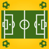 Vector football field illustration with ball Stock Photography