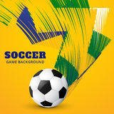 Vector football game. Creative colorful football game design background Stock Images