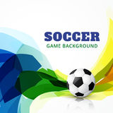 Vector football game. Vector soccer game design background Stock Photos
