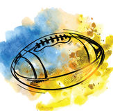 Vector football Royalty Free Stock Photo