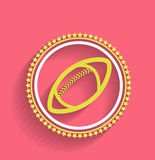 Vector football icon ball flat design. This is file of EPS10 format Royalty Free Stock Images