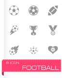 Vector football icon set Stock Photography
