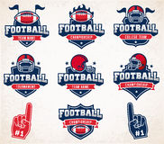 Vector Football logos and insignias Stock Photos