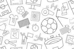 Vector football pattern. Football seamless background Royalty Free Stock Photos