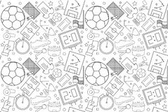 Vector football pattern. football seamless background Royalty Free Stock Photography