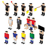 Vector of football player referee and staff coach Royalty Free Stock Photo
