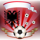 Vector Football poster with Albania  flag Royalty Free Stock Image