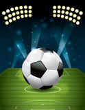 Vector Football - Soccer Ball on Textured Field Royalty Free Stock Image