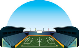 Vector football soccer field stadium Stock Photography