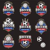 Vector Football Soccer Logos stock illustration