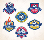 Vector football or soccer logos Royalty Free Stock Photography