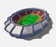 Vector football stadium Stock Photo