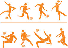 Vector footballers players silhouettes 3. Vector footballers (soccer) players silhouettes vector illustration