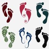 Vector footprint silhouettes Royalty Free Stock Photos