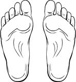 Vector Footstep Stock Image