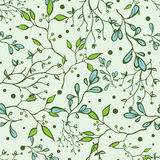 Vector Forest Braches Green Drawing Seamless Royalty Free Stock Photo