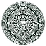 Mayan symbols calendar stock illustration