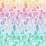 Vector forest design floral pattern illustration Royalty Free Stock Photos