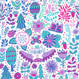 Vector forest design floral pattern illustration Stock Photo