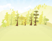 Vector Forest illustration Stock Image