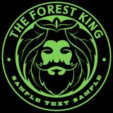 Vector forest king head, bearded man face, green king logo. Vector forest king head, bearded man face, green king logo vector illustration