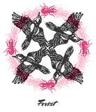 Vector Forest mood Engraved fractal outlet composition. Stock Images