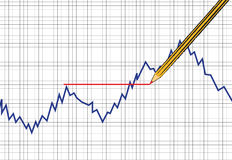 Vector Forex and comodity chart Stock Image