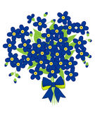 Vector of forget me not flowers with Bow Stock Photo