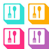Vector fork and spoon icon, Illustration EPS10 Royalty Free Stock Photo
