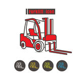 Vector Forklift icon color on white background Stock Photo