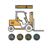 Vector Forklift icon color on white background Stock Image
