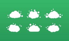 Vector formado espuma de la nube Imágenes de archivo libres de regalías