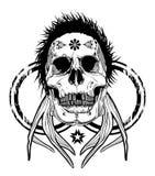 Horned skull Stock Photography