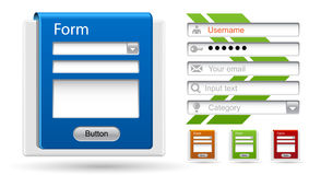 Vector forms for your website, design, application Stock Images