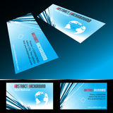 Vector four business card set Stock Images