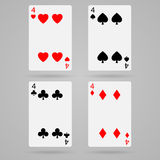Vector four cards Stock Photo
