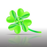 Vector four leaf clover symbol Royalty Free Stock Images