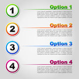 Vector four options concept Royalty Free Stock Images