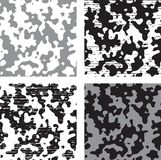 Endless Abstract seamless backgrounds. Vector four patterns with inkblots vector illustration