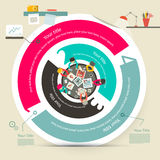 Vector Four Steps Circle Infographics vector illustration