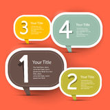 Vector Four Steps Infographic Layout. Template in Retro Flat Design Style on Red Background Stock Photos