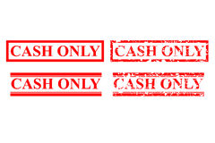 Four Style of Rubber Stamp Effect : Cash Only, No Debit or Credit Card, Isolated on White. Vector Four Style of Rubber Stamp Effect : Cash Only, No Debit or royalty free illustration