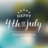 Vector Fourth of July hand lettering inscription for greeting card etc. Happy Independence Day calligraphic background. Royalty Free Stock Image