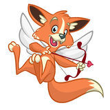 Vector fox cupid. Illustration of a fox cupid for St Valentine's Day.  Stock Images