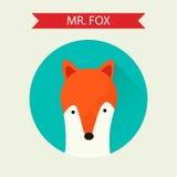 Vector fox icon Royalty Free Stock Photography