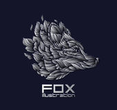 Vector Fox or Wolf Design Icon Logo Luxury Silver Royalty Free Stock Images