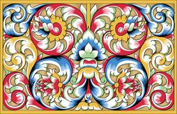 Vector fragment of orthodox ornamental pattern Stock Photo
