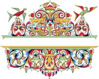 Vector fragment of orthodox ornamental pattern Stock Photography