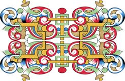 Vector fragment of orthodox ornamental pattern Royalty Free Stock Photos