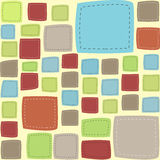 Vector patch frame background Royalty Free Stock Photography